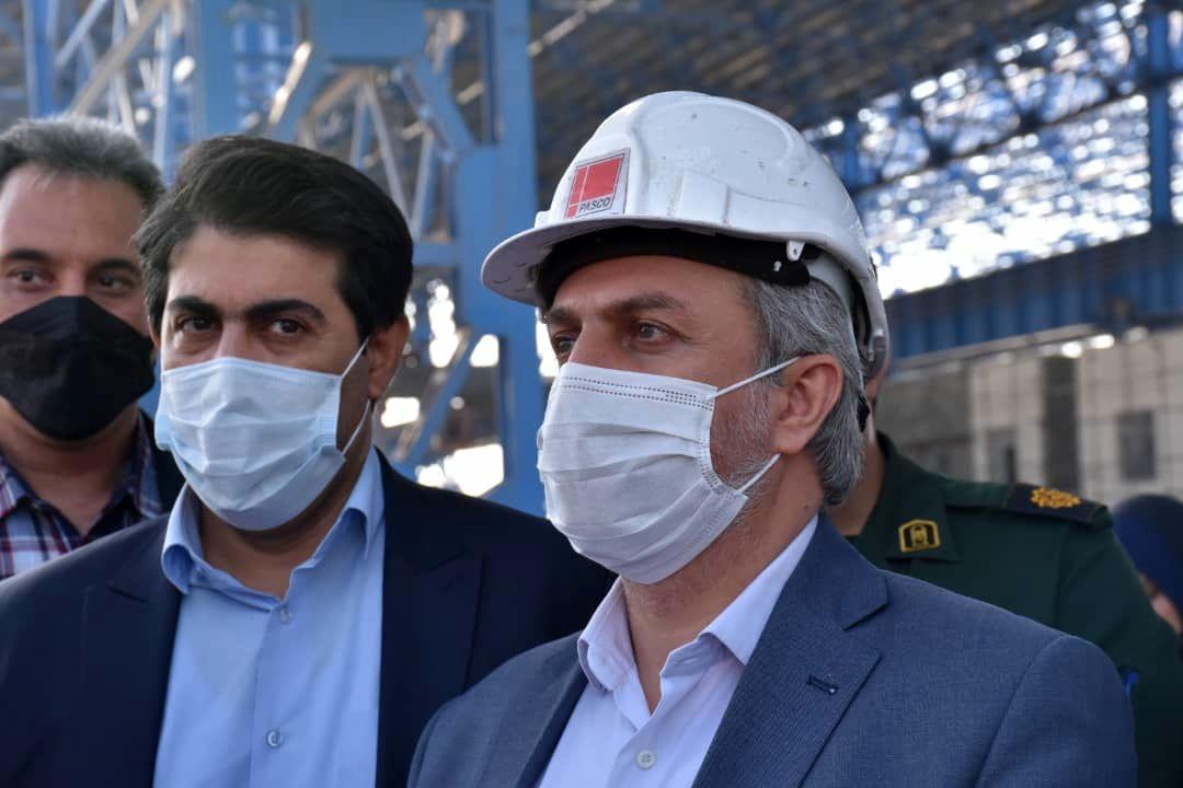 وزیر صمت از مجتمع ذوب اهن پاسارگاد کوار بازدید کرد